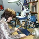 Sodia Thiele bei der Arbeit
